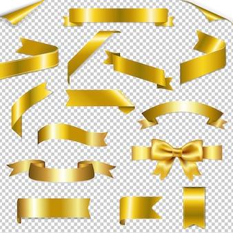 Gouden weblinten collectie geïsoleerde illustratie