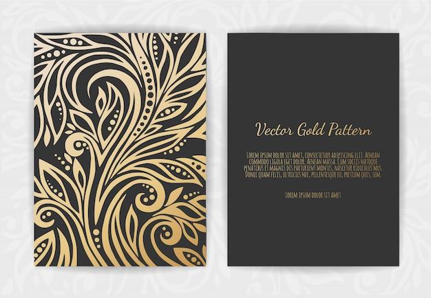 Gouden wenskaart op zwart
