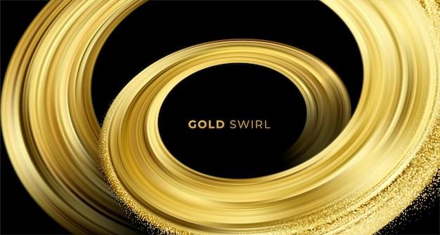 Gouden werveling op zwarte achtergrond