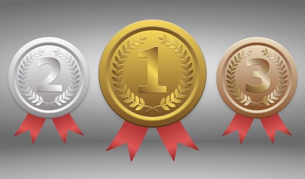 Gouden, zilveren en bronzen insignes