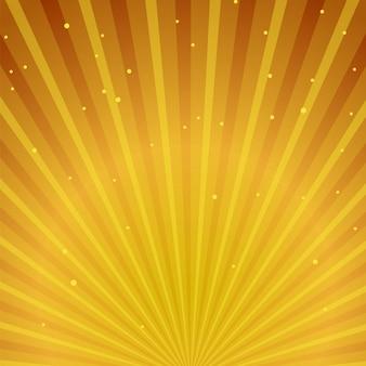 Gouden zonnestraalachtergrond