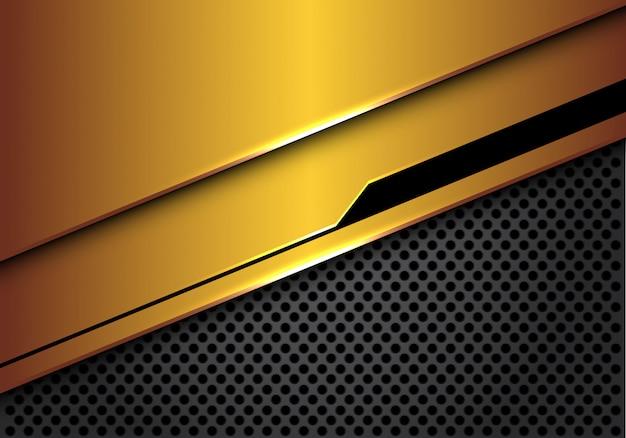 Gouden zwarte futuristische grijze de luxeachtergrond van het cirkelnetwerk.