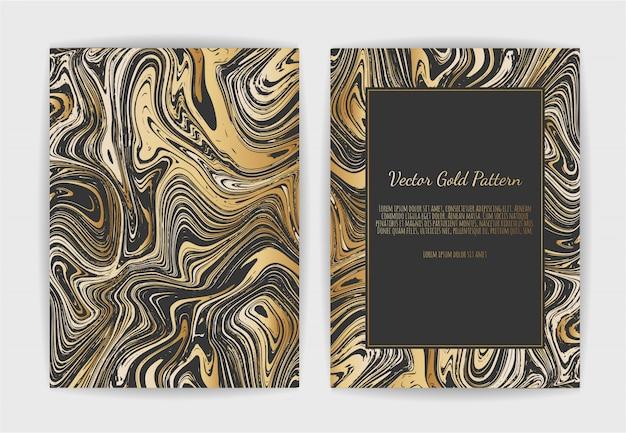 Gouden, zwarte, witte marmeren sjabloonkaart