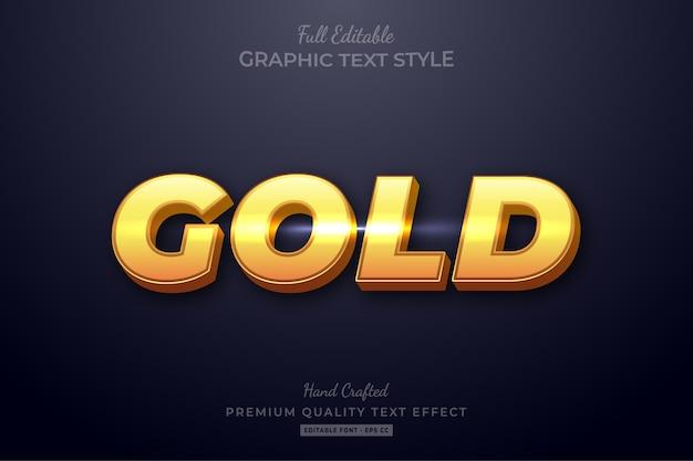 Goudglans bewerkbaar premium teksteffect