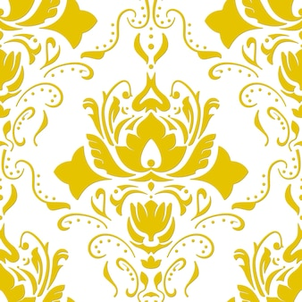 Goudkleurig vintage behang. naadloze vectorachtergrond.