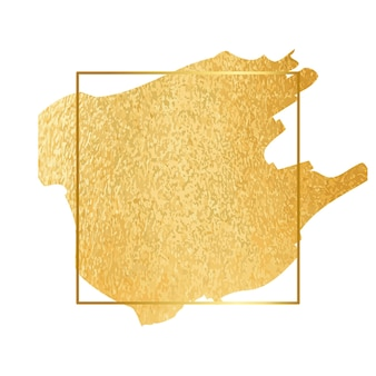Goudverf folieslag met randlijst