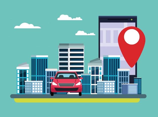 Gps-locatie autoservice