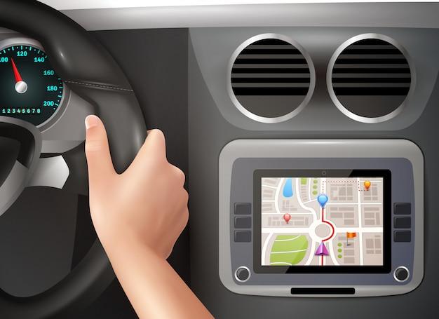 Gps-navigatie in auto
