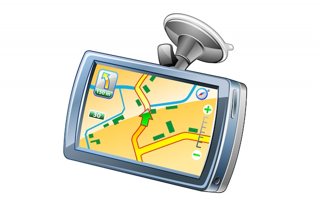 Gps-navigator pictogram illustratie