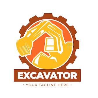 Graafmachine logo bouwconcept