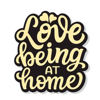 Graag thuis zijn, belettering
