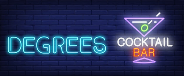 Graden, cocktailbar neon sig