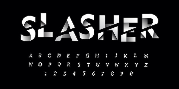 Gradien gesneden lettertype