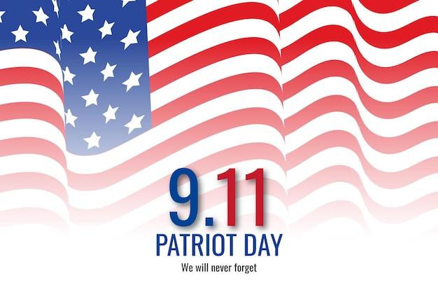 Gradiënt 9.11 patriot dag achtergrond