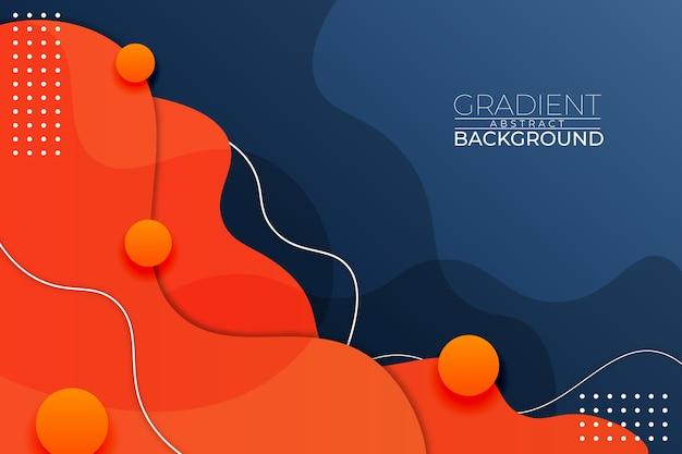 Gradient abstracte achtergrond blauw oranje stijl