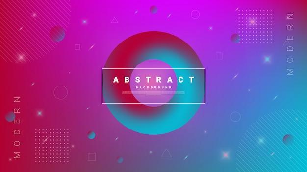 Gradiënt abstracte achtergrond met stromende vloeistof cirkel.