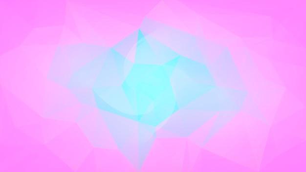 Gradiënt abstracte horizontale driehoek achtergrond. tedere roze en blauwe veelhoekige achtergrond voor mobiele applicatie en web. trendy geometrische abstracte banner. corporate flyer ontwerp. mozaïek stijl.