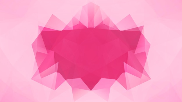 Gradiënt abstracte horizontale driehoek achtergrond. tedere roze roos veelhoekige achtergrond voor bedrijfspresentatie. trendy geometrische abstracte banner. technologie concept flyer. mozaïek stijl.