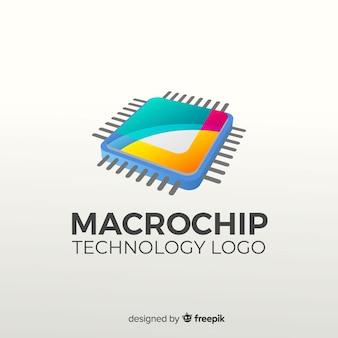 Gradiënt abstracte logo sjabloon