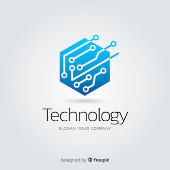 Gradient abstracte technologie bedrijfslogotype