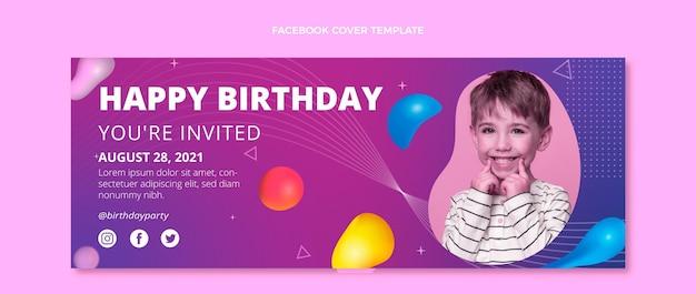 Gradiënt abstracte vloeibare verjaardag facebook cover