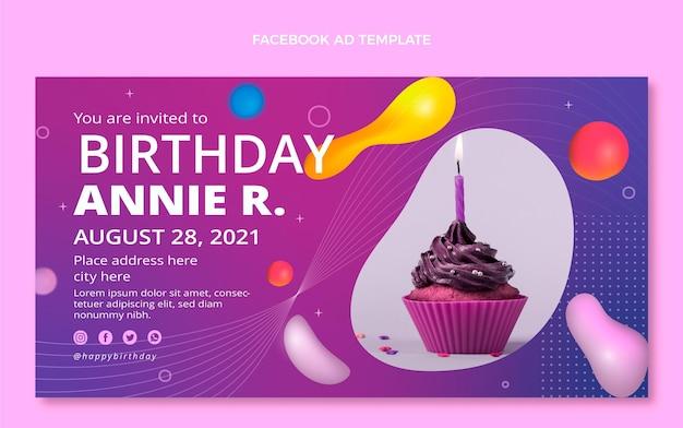 Gradiënt abstracte vloeistof verjaardag facebook