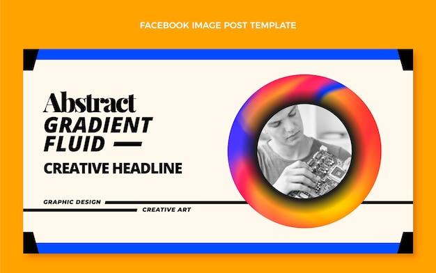 Gradiënt abstracte vloeistoftechnologie facebook bericht