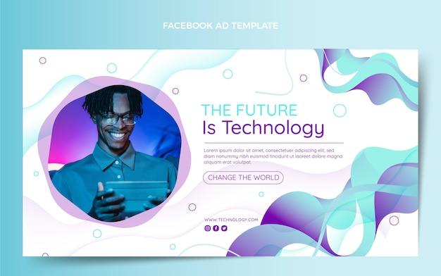 Gradiënt abstracte vloeistoftechnologie facebook