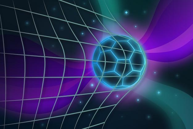 Gradiënt abstracte voetbal achtergrond Gratis Vector