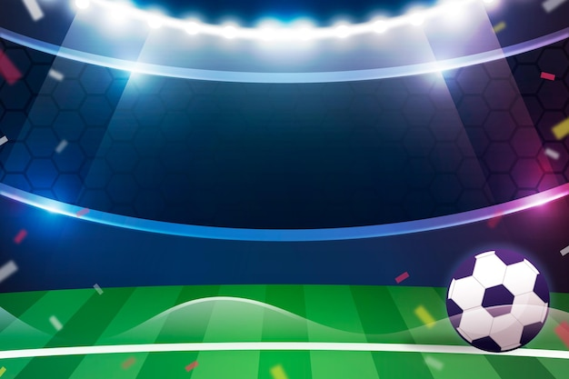 Gradiënt abstracte voetbal achtergrond