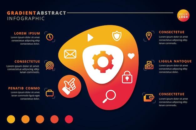 Gradiënt abstracte vorm infographic
