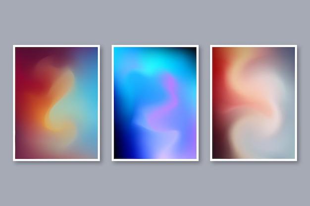 Gradiënt abstracte wazig covers set