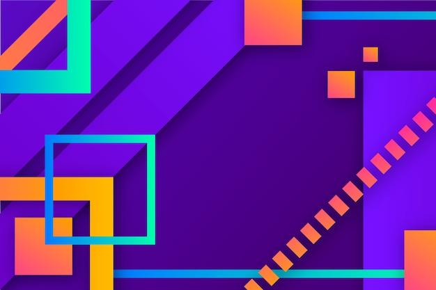 Gradient achtergrond met geometrische vormen