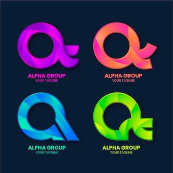 Gradient alpha-logo's pakket
