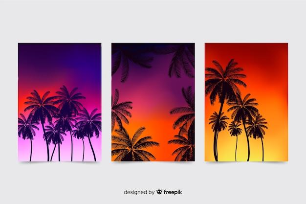 Gradient beach cover-collectie