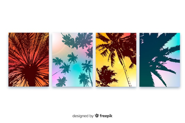 Gradient beach cover template collection