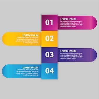 Gradiënt bedrijfs infographic element met optie 4 of stappen