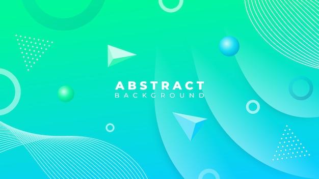 Gradiënt blauwgroene abstracte achtergrond