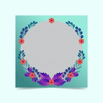 Gradiënt bloemen facebook frame