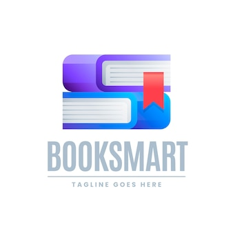 Gradient book-logo met slogan