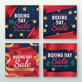 Gradient boxing day sale instagram posts collectie
