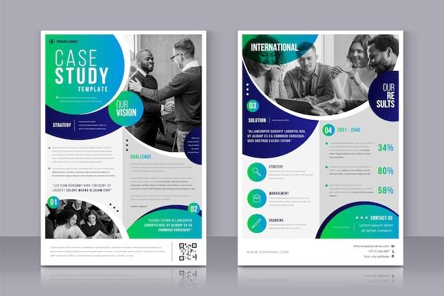 Gradiënt case study flyers set
