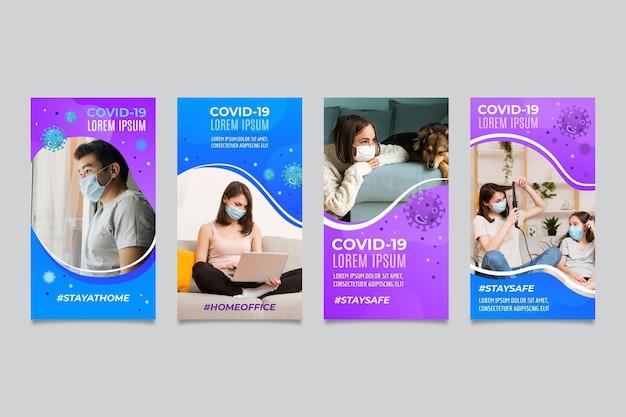 Gradient coronavirus instagram-verhaalcollectie