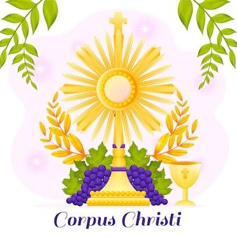 Gradient corpus christi illustratie