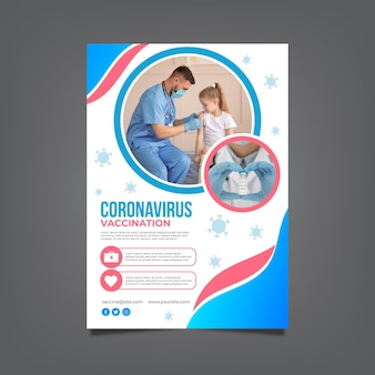 Gradient covid19 vaccinatie flyer