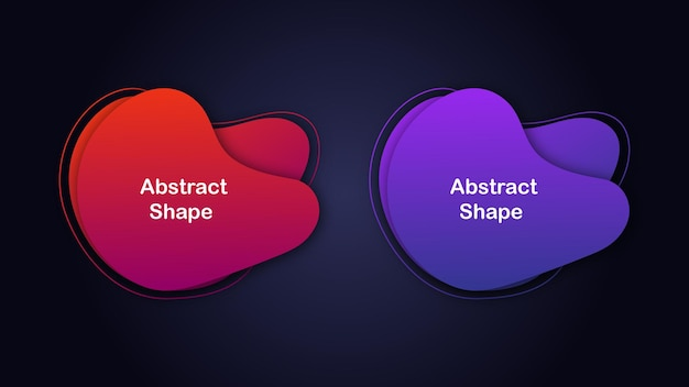 Gradiënt creatieve set van abstracte elementen