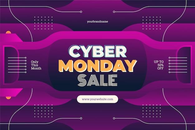 Gradiënt cyber maandag verkoop achtergrond