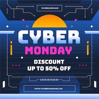 Gradiënt cyber maandag verkoop illustratie