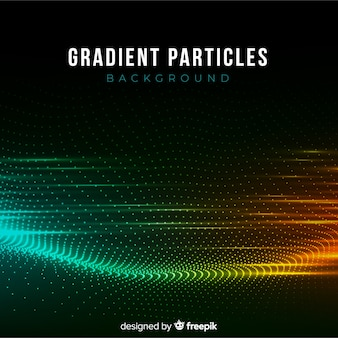 Gradiënt deeltjes donkere achtergrond