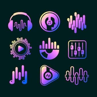 Gradient dj logo-collectie